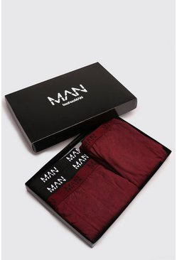 Burgundy Boxer & Lounge Pants MAN Branded Gift Box