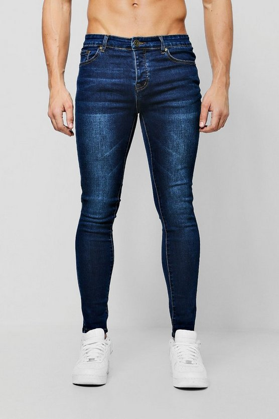 Spray On Skinny Jeans In Dark Blue