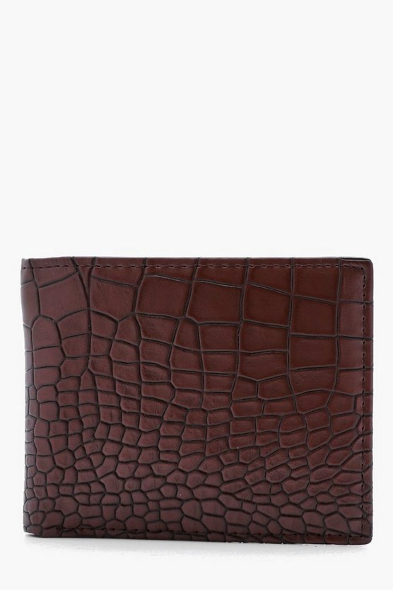 Brown Croc Emboss Wallet