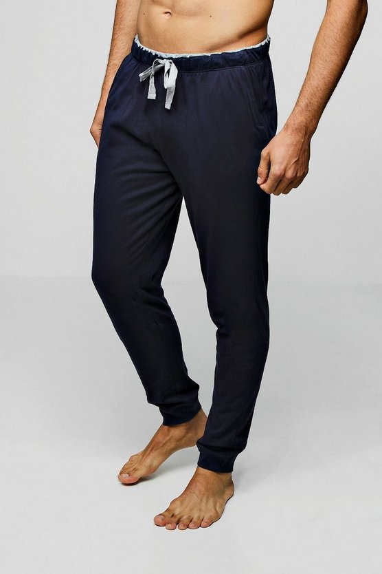 Navy Cuffed Lounge Jogger