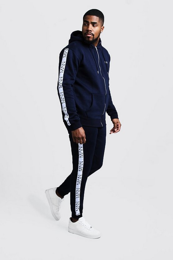Big And Tall MAN Embroidered Tracksuit