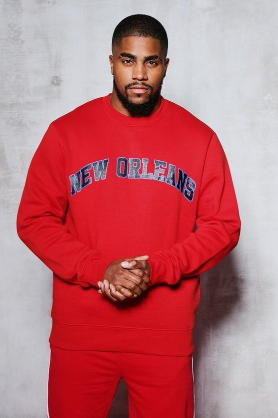 Red Big And Tall New Orleans Sweater