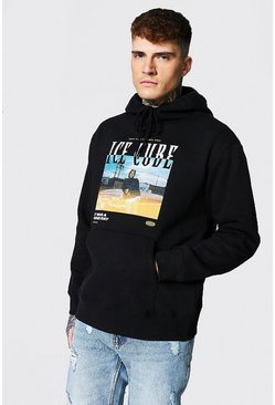 Black Oversized Ice Cube Car License Hoodie