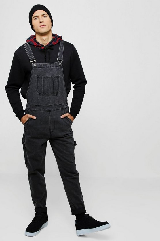 Slim Fit Rigid Denim Dungarees