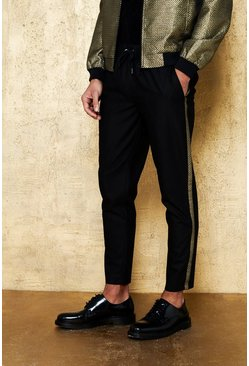 Gold Metallic Taping Smart Jogger Trouser Co-ord