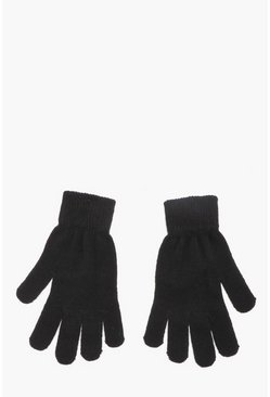 Mens Black Mens Thermal Magic Gloves