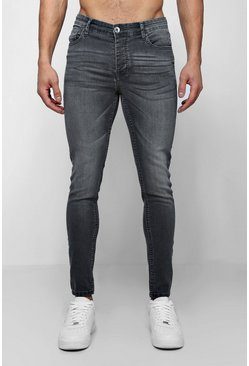 Spray On Skinny Jeans in Grau, Herren