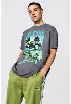 Charcoal Oversized Ice Cube Homage License T-shirt