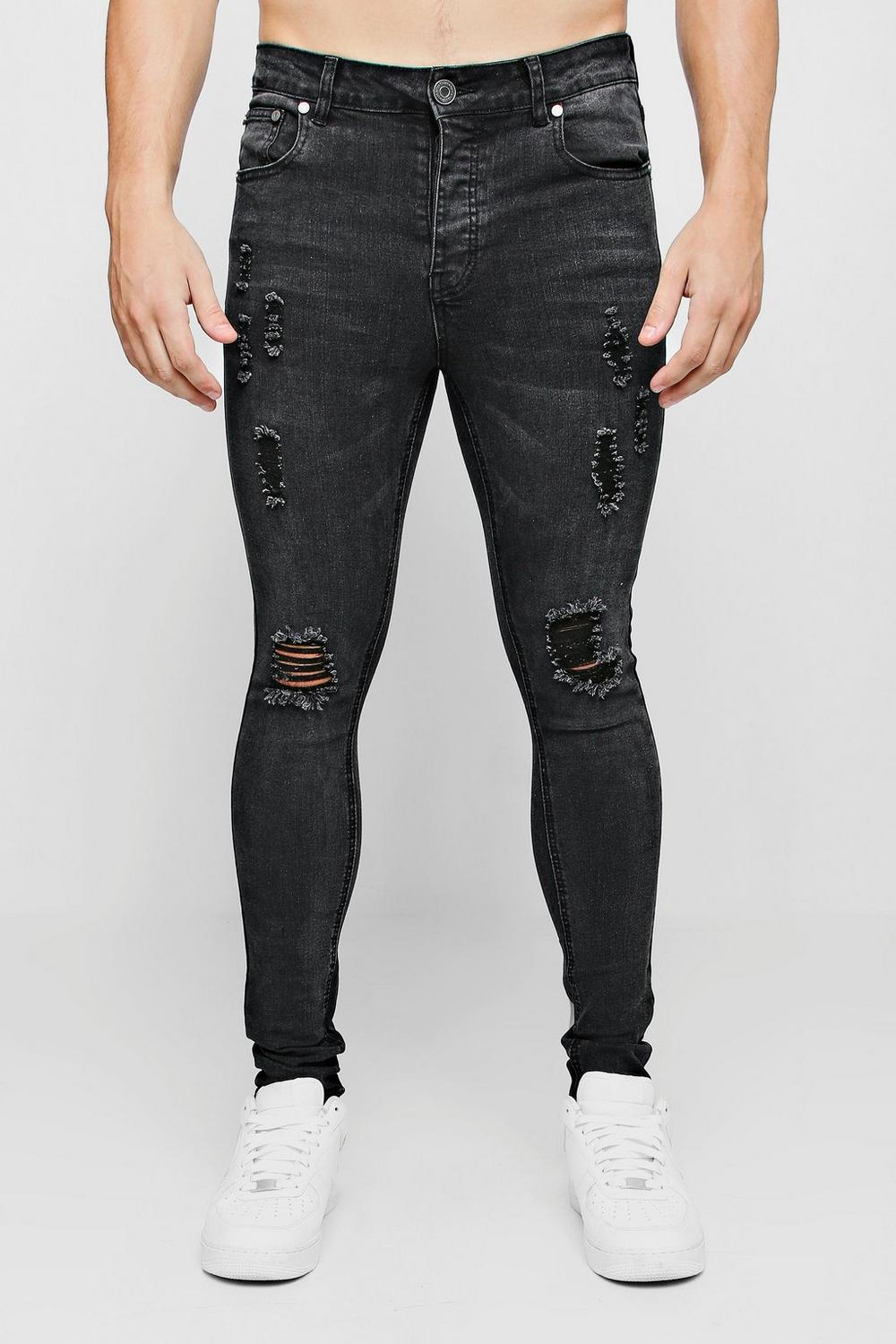 3b155c2b9a Ripped Knee Spray on Skinny Jeans. Hover to zoom