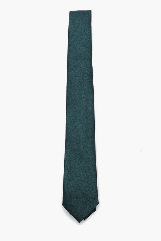 Mens Green Textured Tie