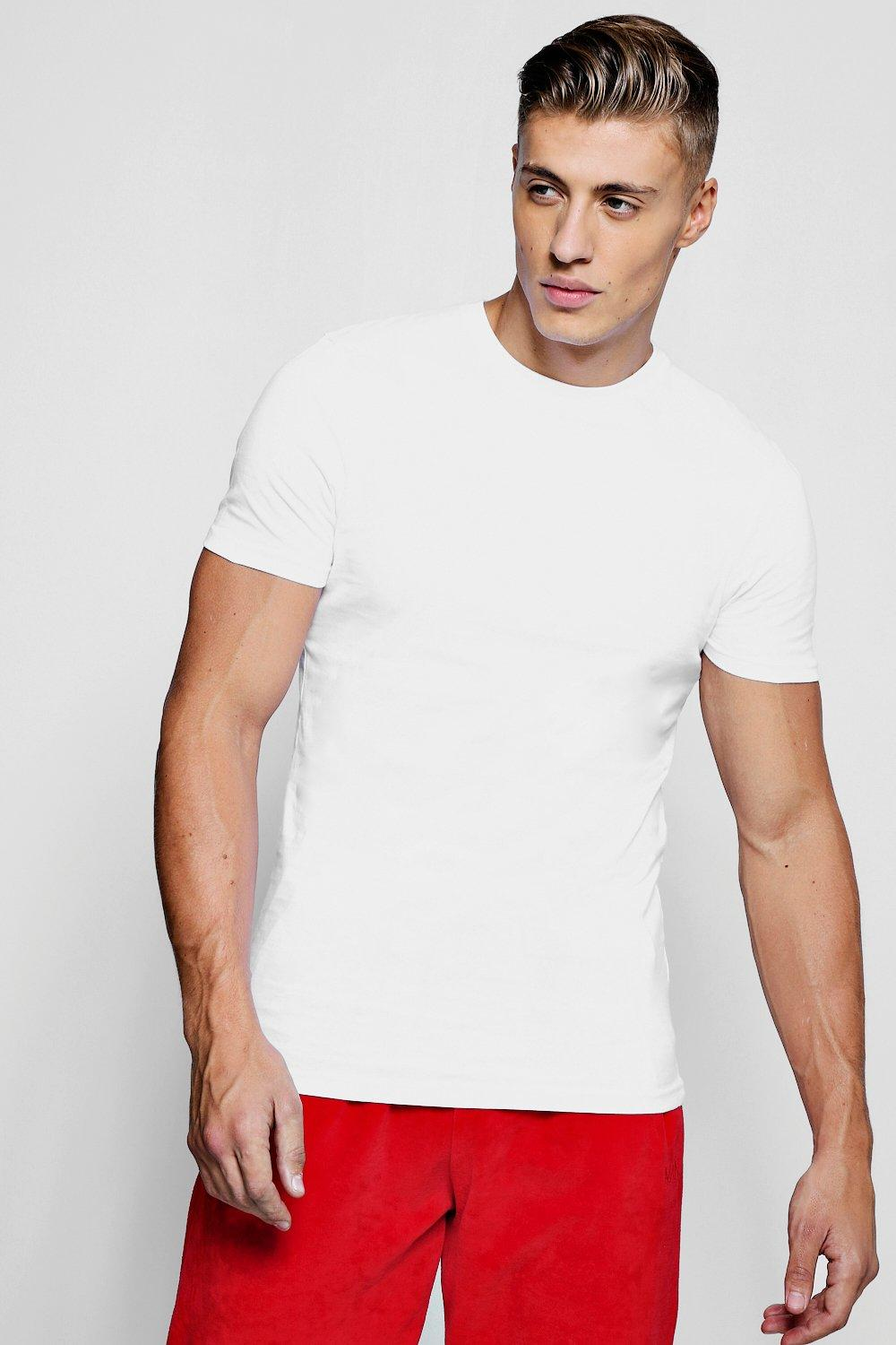 c030e7436473b4 Muscle Fit Crew Neck T shirt - boohooMAN