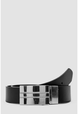 Mens Multi Faux Leather Reversible Belt