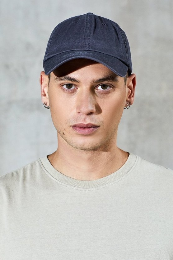 Grey Enzyme Washed Cap