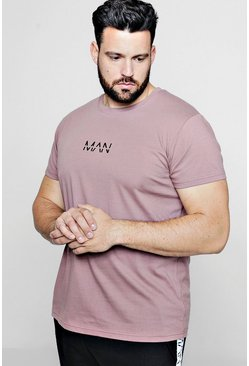 Mens Bark Big and Tall MAN Dash Longline T-Shirt