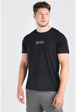 Black Big and Tall MAN Dash Longline T-Shirt