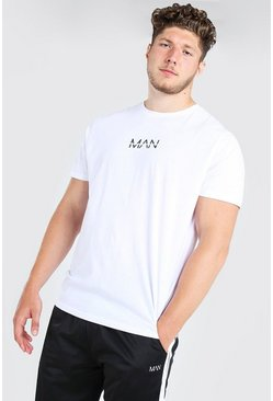 Big And Tall - T-shirt long MAN original, Blanc