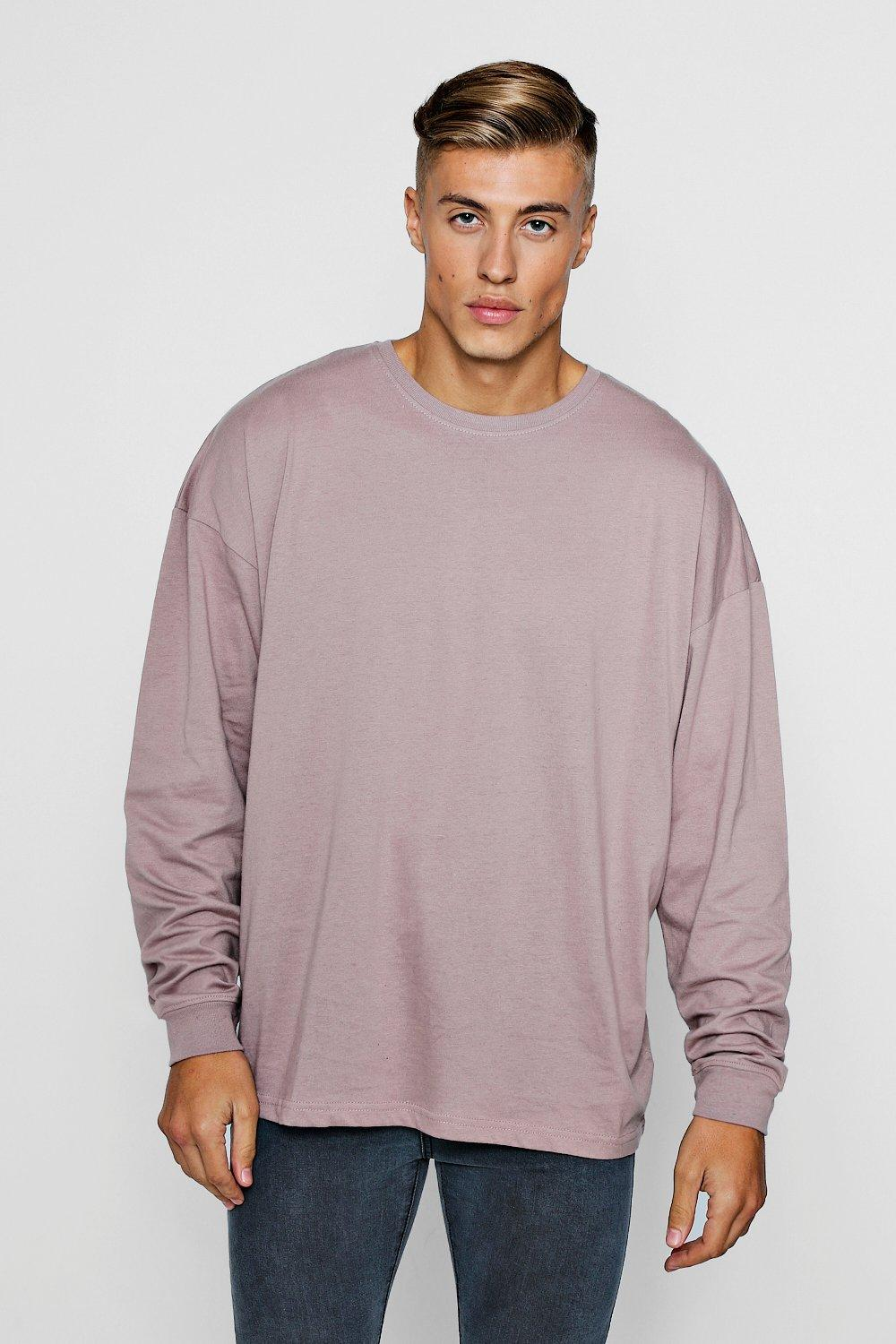 ba8189f39 Mens Bark Oversized Long Sleeve T-Shirt. Hover to zoom