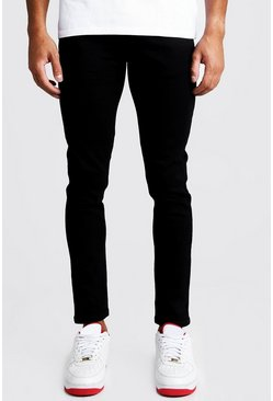 Mens Skinny Fit Denim Jeans in Black