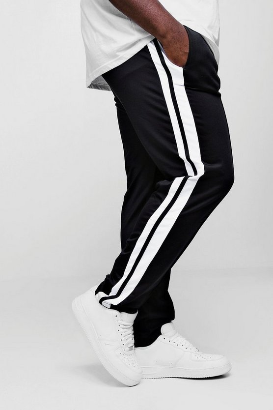 Black Big And Tall Skinny Fit MAN Signature Joggers