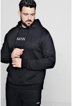 Black Plus Size MAN Dash Hoodie