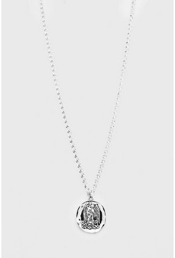 Silver Coin Pendant Necklace