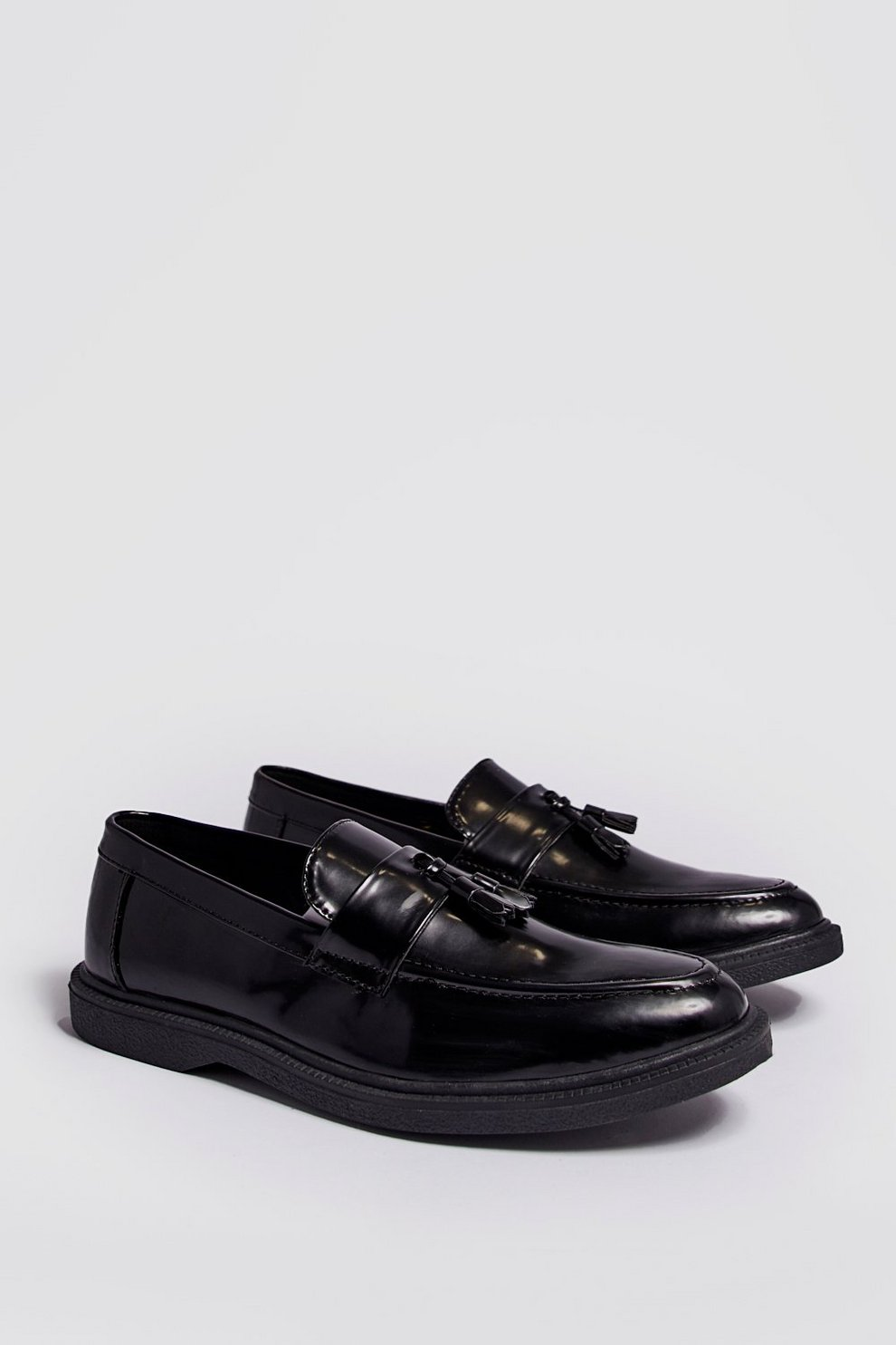 8870cb2aa7e Faux Leather Heavy Soled Tassel Loafer - boohooMAN