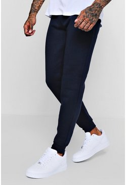 Navy Skinny Fit Basic Fleece Joggers