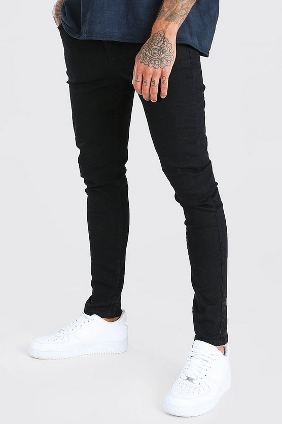 Mens Super Skinny Black Denim Jeans
