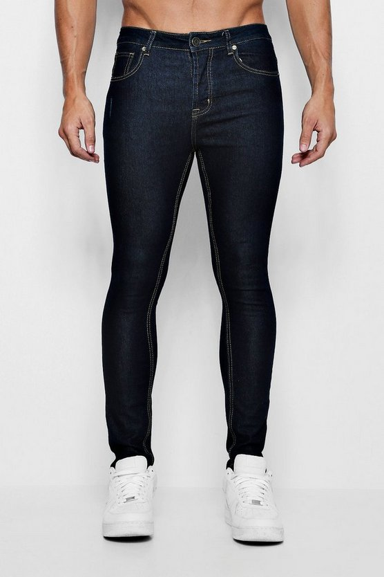Mens Super Skinny Indigo Denim Jeans