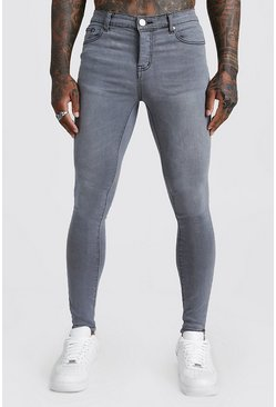 Mens Spray On Skinny Jeans In Grey