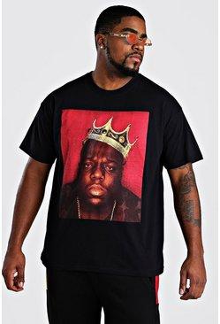 Black Big and Tall Biggie Crown License T-Shirt