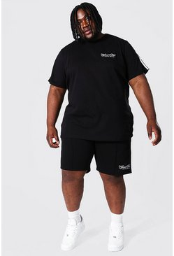 Grande taille - T-shirt et short - Official MAN, Black