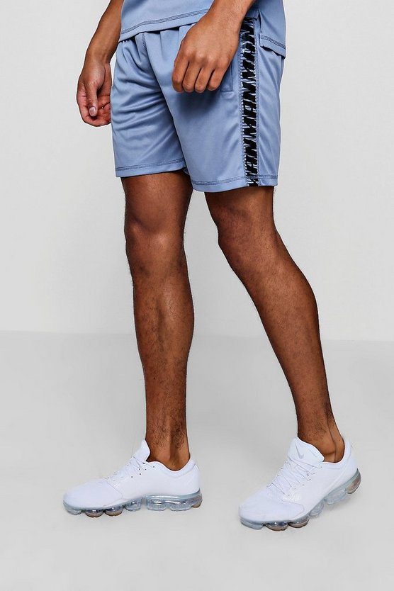 Blue Active Gym Runner Short With Side Panel