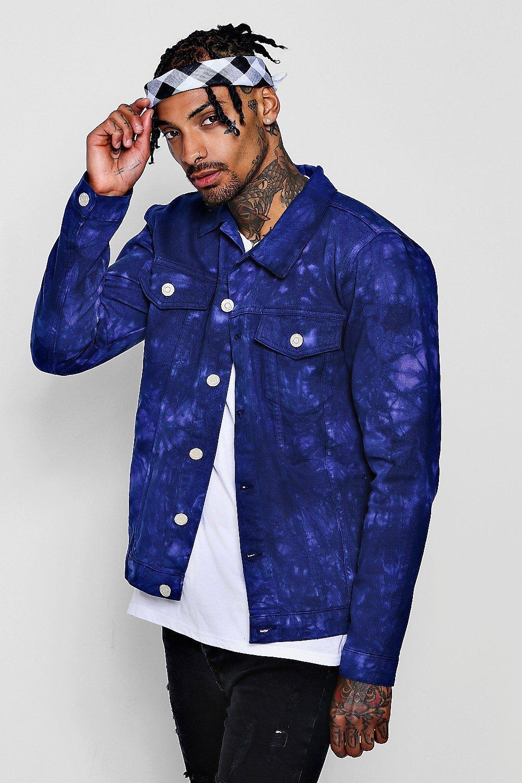 1c0e00657 Tie Dye Denim Jacket - boohooMAN