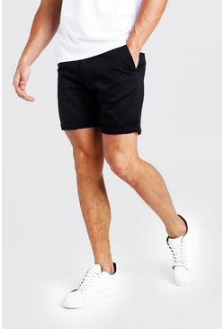 Mens Mid Length Chino Short In Black