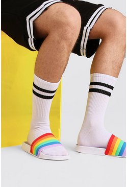 Mens Multi Pride Rainbow Slider