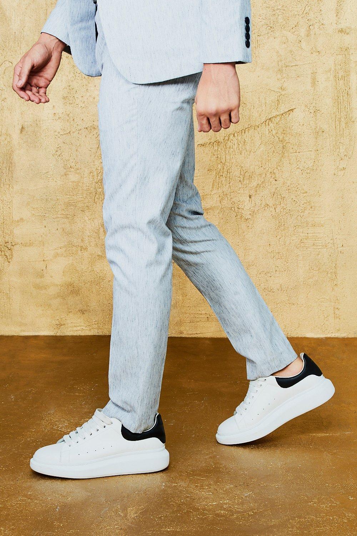 f31507fc6a Herringbone Skinny Fit Suit Trouser - boohooMAN
