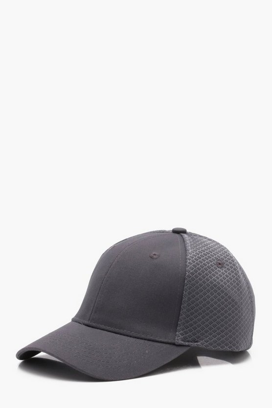 Grey Sneaker Mesh 6 Panel Cap