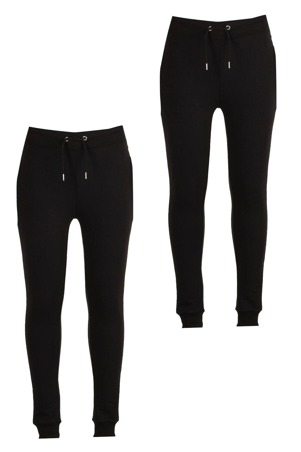 d6b53cfe 2 Pack Jersey Joggers in Super Skinny Fit - boohooMAN