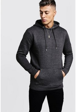 Charcoal Basic Over the Head Fleece Hoodie