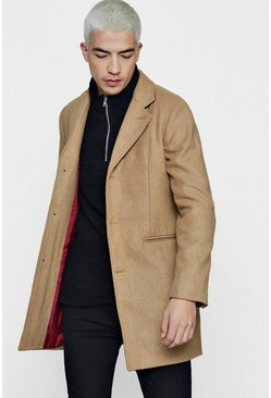 Camel Wool Mix Overcoat