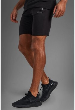 Mens Black Active Gym Shorts