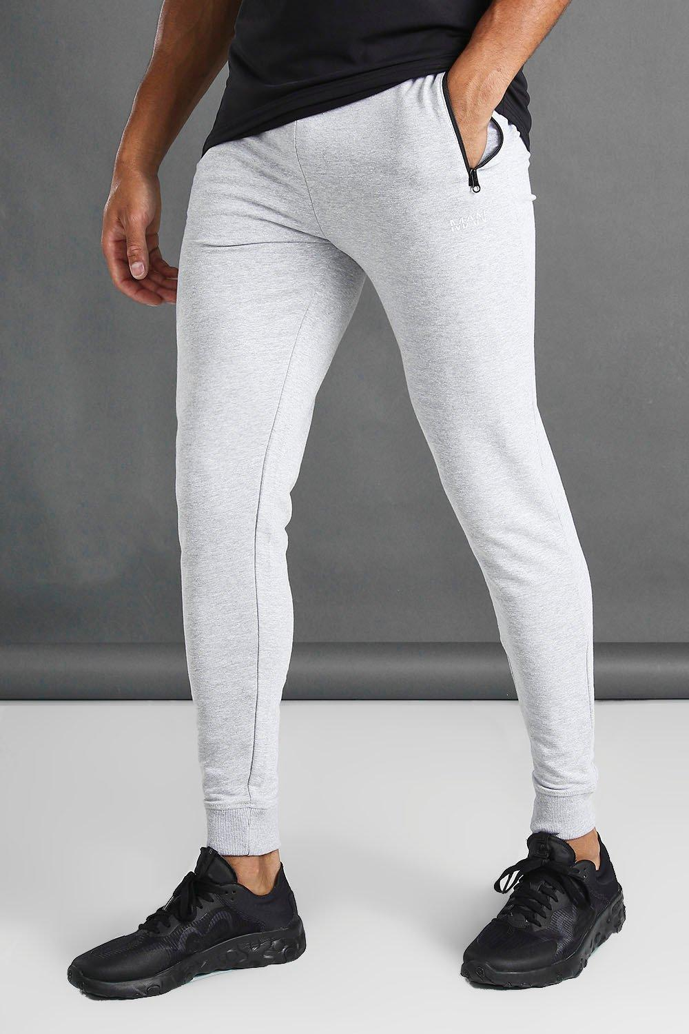 free shipping shoes for cheap famous designer brand Skinny Fit Active Gym Joggers With Zip Pockets - boohooMAN