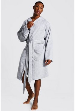 Grey Man Signature Jersey Hooded Dressing Gown