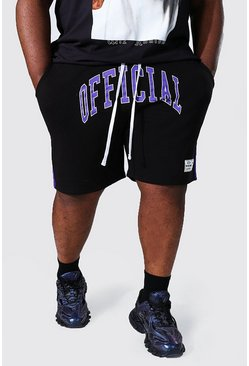 Black Plus Official Varsity Jersey Short