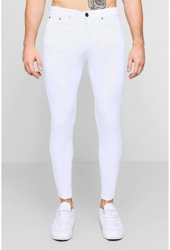 Mens White Skinny Fit Jeans