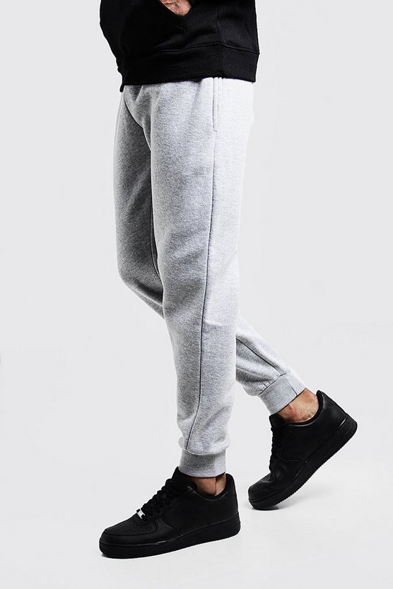 Grey Slim Fit Fleece Joggers