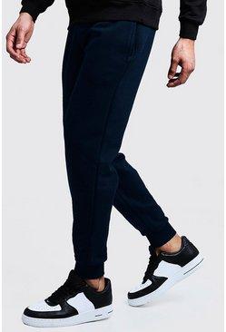 Navy Slim Fit Fleece Joggers