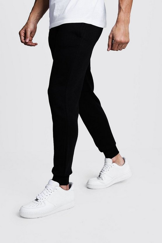 Black Basic Skinny Fit Fleece Joggers