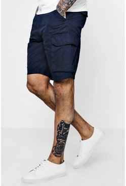 Mens Navy Cargo Cotton Short